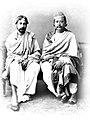 Tagore and Raja Radha Kishore Manikya.jpg
