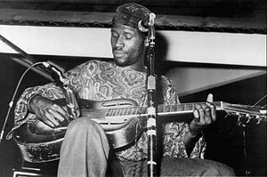 Taj Mahal (musician) - Taj Mahal performing in 1971 (Millard Agency photo)