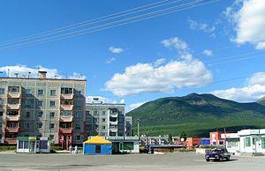 Taksimo - Taksimo central square