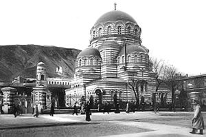 Secularism and irreligion in Georgia (country) - The Tbilisi Alexander Nevsky Orthodox Cathedral was demolished in 1930 to make way for the House of Government of the Georgian SSR.