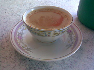 Saucer - Tea with saucer as served in Pakistan and India