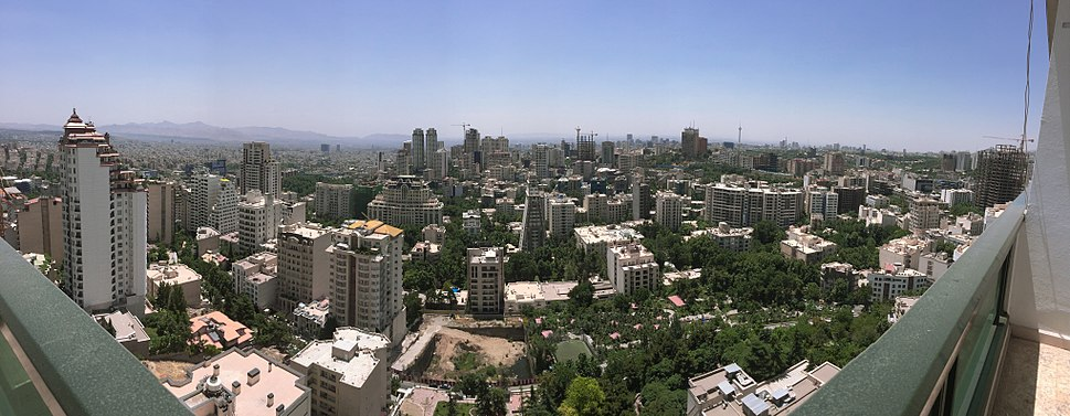 Panoramic view of Tehran during the day