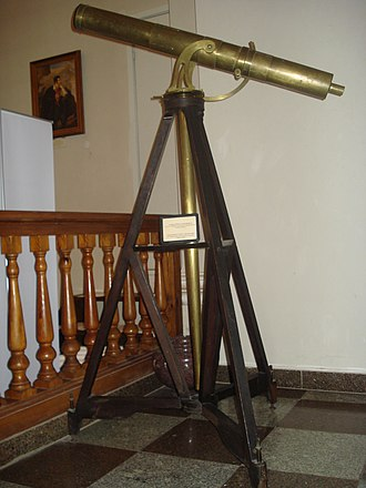 John Dollond - One of Dollond's telescopes in the White Hall of the Vilnius University Library