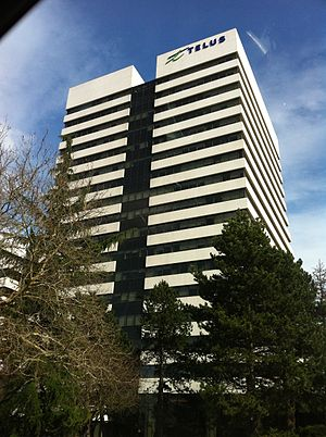 "Telus - TELUS building (""The Boot"") in Burnaby, British Columbia."