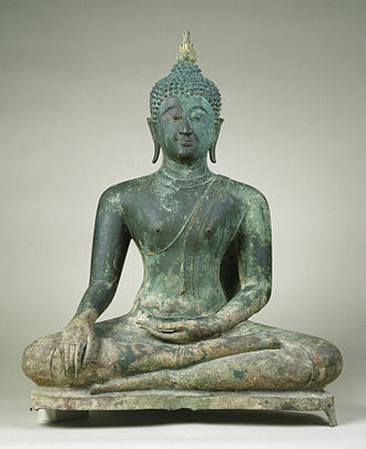 "Sukhothai Kingdom - Seated Buddha in ""Maravijaya"", second half of century (Sukhothai). The Walters Art Museum."