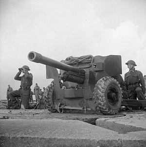 Ordnance QF 6-pounder - A gun of 86th Anti-Tank Regiment prepares to fire during a practice shoot at the Royal Artillery ranges, September 1942