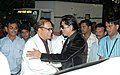 The Chief Minister of Goa, Shri Digambar Kamat welcoming the Chief Guest Shahrukh Khan at the venue of inauguration of the 38th International Film Festival of India (IFFI-2007) at Panaji, Goa on November 23, 2007.jpg