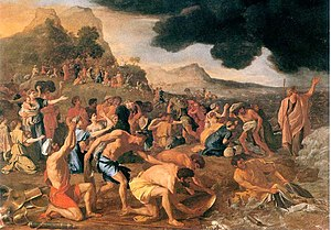"Crossing the Red Sea - ""The Crossing of the Red Sea"" by Nicolas Poussin"