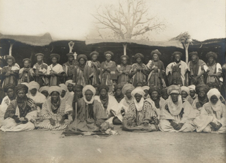 Katsina - The Emir of Katsina, Muhammad Dikko dan Gidado, and other officials, 1911