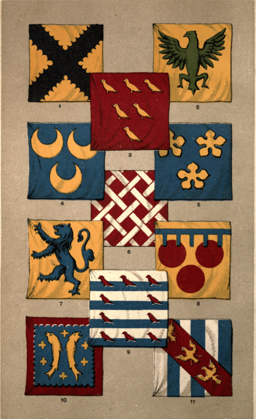 PERSONAL FLAGS—MEDIÆVAL PERIOD.