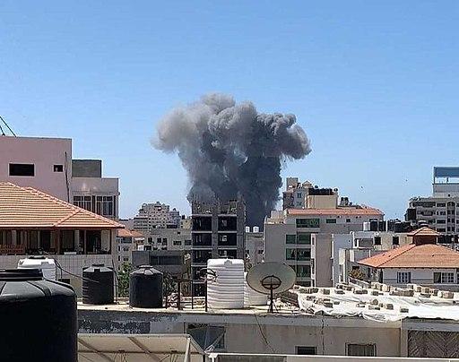 The Israeli bombing of civilian neighborhoods in the Gaza Strip 2021 (cropped)