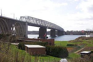DSB (railway company) - The first Little Belt Bridge was opened in 1935.