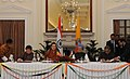 The Minister of Foreign Affairs, Bhutan, Mr. Lyonpo Ugyen Tshering and the Union Minister for External Affairs.jpg