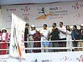 The Minister of State (Independent Charge) for Programme Implementation & Statistics, Youth Affairs & Sports and Overseas Indian Affairs Shri Oscar Fernandes flagging off the AIDS Awareness Marathon at Pune on December 4, 2005.jpg