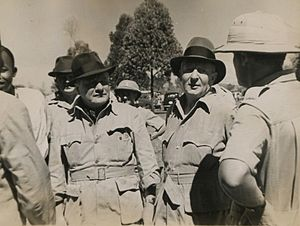 Hugh Dow - Sir Hugh Dow, Sir Frederick Seaford, East African Royal Commission. 1st Visit to Africa Spring. 1953