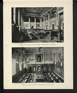 House of Assembly of South Africa lower house of the Parliament of South Africa from 1910 to 1994