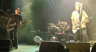 The Offspring - Bassist Greg K., drummer Pete Parada, and frontman Dexter Holland in 2008
