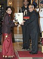 The President, Shri Pranab Mukherjee presenting the Arjuna Award for the year-2014 to Ms. Heena Sidhu for Shooting, in a glittering ceremony, at Rashtrapati Bhavan, in New Delhi on August 29, 2014.jpg