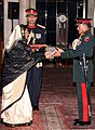 """The President, Smt. Pratibha Devisingh Patil conferred the honorary rank of the """"General of the Indian Army"""" to the Chief of Army Staff, Nepal General Rookmangud Katawal, in New Delhi on December 12, 2007.jpg"""