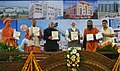 The Prime Minister, Shri Narendra Modi releasing the World Herbal Encyclopedia, Vol. 01, at the inauguration ceremony of the Patanjali Research Institute, at Haridwar, Uttarakhand.jpg
