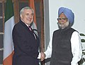 The Prime Minister Dr. Manmohan Singh with the Irish Prime Minister, Mr. Bertie Ahen, in New Delhi on January 19, 2006.jpg
