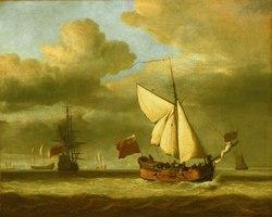Willem van de Velde the Younger: The Royal Escape Close-Hauled in a Breeze