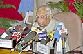The Speaker of Lok Sabha Shri Somnath Chatterjee holding a Press Conference after the House is adjourned sine die in New Delhi on May 13, 2005.jpg