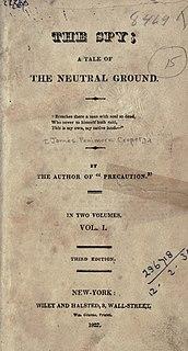 <i>The Spy</i> (Cooper novel) novel by James Fenimore Cooper