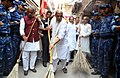 """The Union Home Minister, Shri Rajnath Singh participating in cleanliness drive, on the occasion of the """"Swachhata Hi Sewa"""" Abhiyan, in Faridabad, Haryana.JPG"""