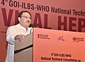 The Union Minister for Health & Family Welfare, Shri J.P. Nadda addressing the participants at the 4th National Technical Consultation on Viral Hepatitis, on the occasion of the 'World Hepatitis Day', in New Delhi.jpg