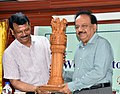The Union Minister for Science & Technology, Earth Sciences and Environment, Forest & Climate Change, Dr. Harsh Vardhan at a function, during his visiting to the campus of Zoological Survey of India, in Kolkata.JPG