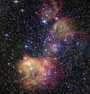 Emission nebula - Image: The glowing gas cloud LHA 120 N55 in the Large Magellanic Cloud