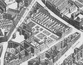 The grounds of the Hôtel de Condé (Princes of Condé) from the Turgot map of Paris circa 1737.png