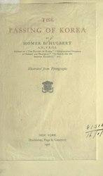 Homer Hulbert: The passing of Korea