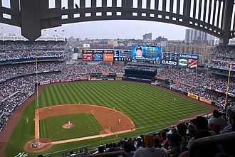 Yankee Stadium in The Bronx. The view from the Grandstand Level at New Yankee Stadium.jpg