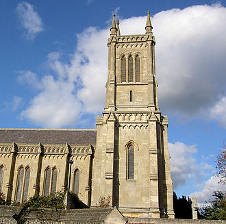 John Buckler - The Holy Trinity Church in Theale, Berkshire. The tower was designed by John Buckler.