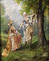 Theodor Leveque Zwei Damen beim Kirschenpflücken.jpg