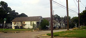 Shotgun house - The portion of the Third Ward of Houston north of Truxillo has many shotgun shacks