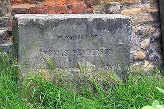 Thomas Henderson (astronomer) - Memorial or gravestone for Thomas Henderson in Greyfriars Kirkyard