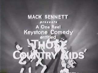 <i>Those Country Kids</i> 1914 film by Roscoe Arbuckle