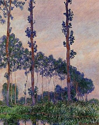 Three Trees in Grey Weather 1891 Claude Monet