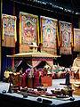 Tibetan Buddhist Namgyal monks preparing the Kalachakra mandala within the pavilion.jpg