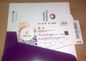 2015 European Games - Ticket for judo competitions