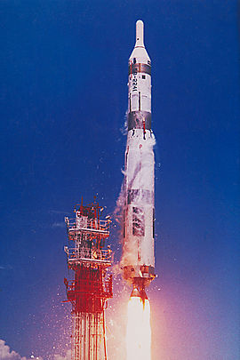 Launch of a Titan I SM/567.8-90 ICBM from Cape Canaveral