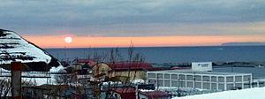 Tomamae, Hokkaido - Sunset over Tomamae
