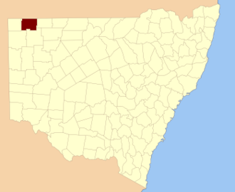 Tongowoko County - Location in New South Wales