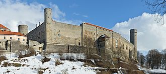 "Harju County - Toompea Castle in Tallinn. Its Latin name Castrum Danorum might refer to the origin of the names ""Tallinn"" and ""Lindanise"", meaning ""Danish Town"" or ""Danish Castle""."