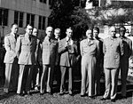 Top officials of the National Military Establishment meet with James Forrestal in Key West, Florida.jpg