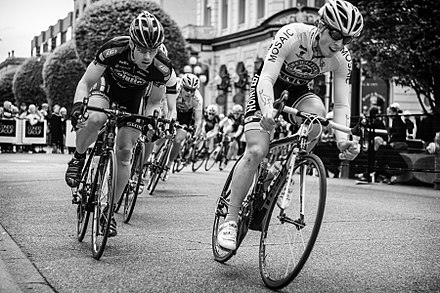 Cyclists during the Tour de Victoria cycling race. Greater Victoria is home to a number of bicycle trails. Tour de Victoria.jpg