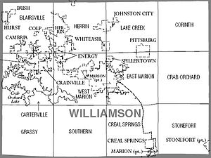 Williamson County, Illinois - Map of Williamson County, Illinois